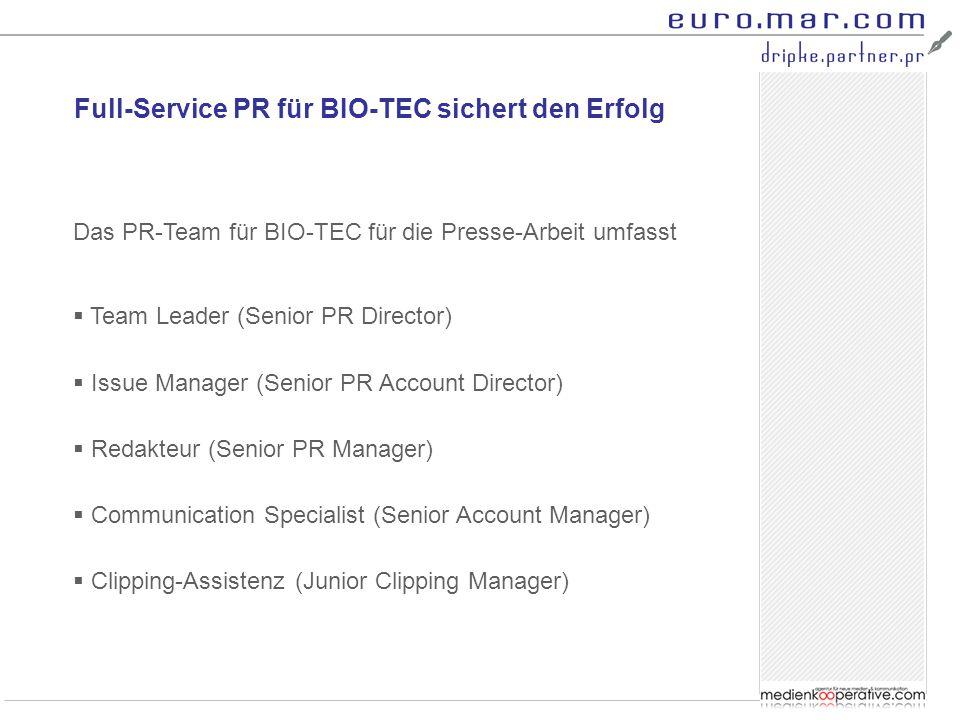 Full-Service PR für BIO-TEC sichert den Erfolg