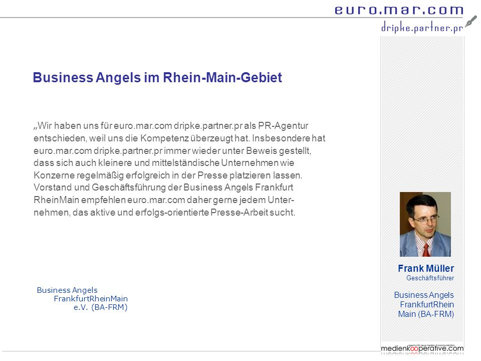 Business Angels im Rhein-Main-Gebiet