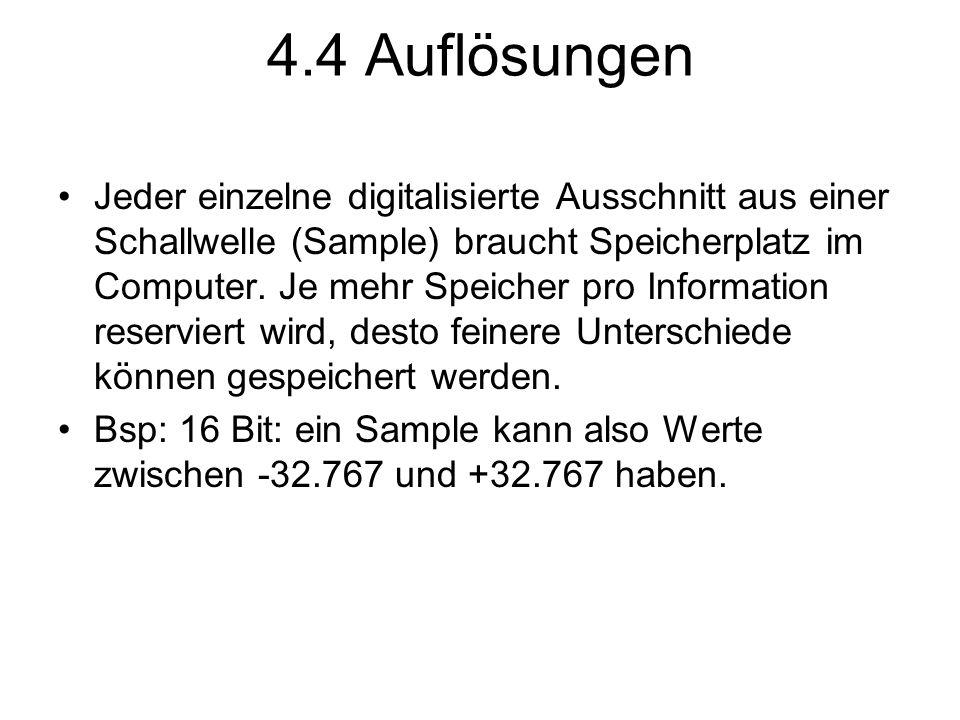 4.4 Auflösungen