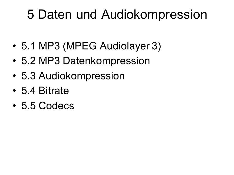 5 Daten und Audiokompression