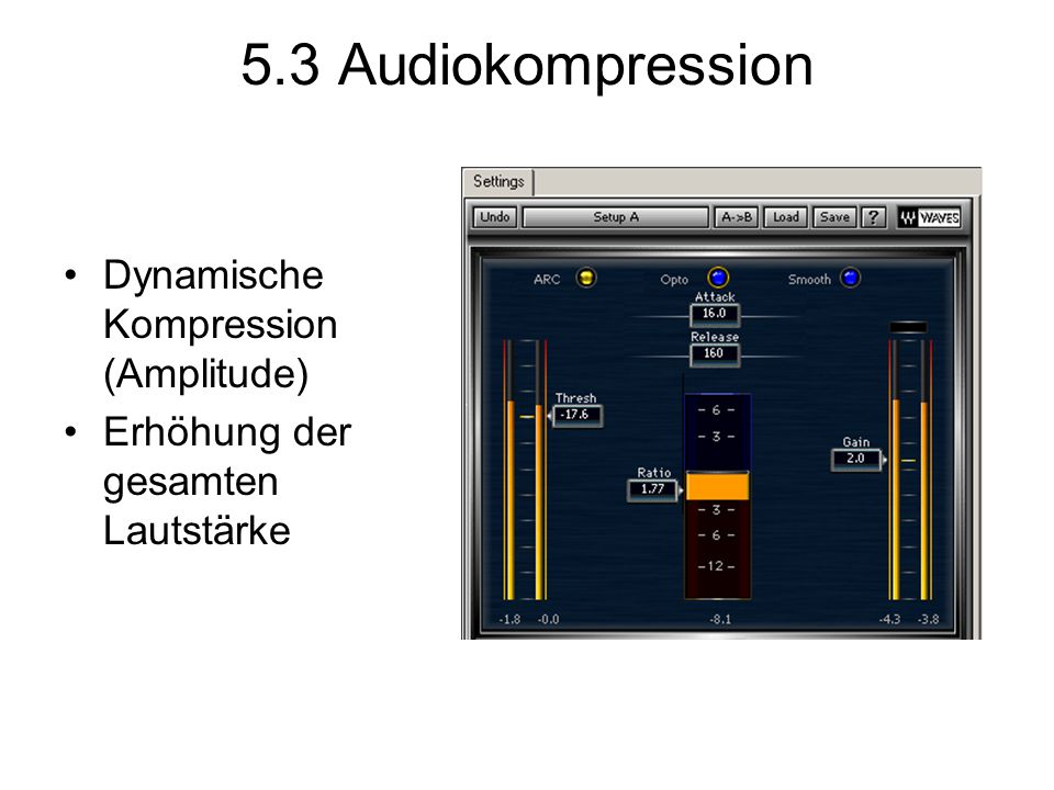 5.3 Audiokompression Dynamische Kompression (Amplitude)