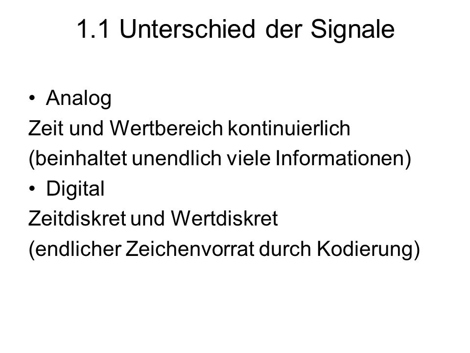 1.1 Unterschied der Signale