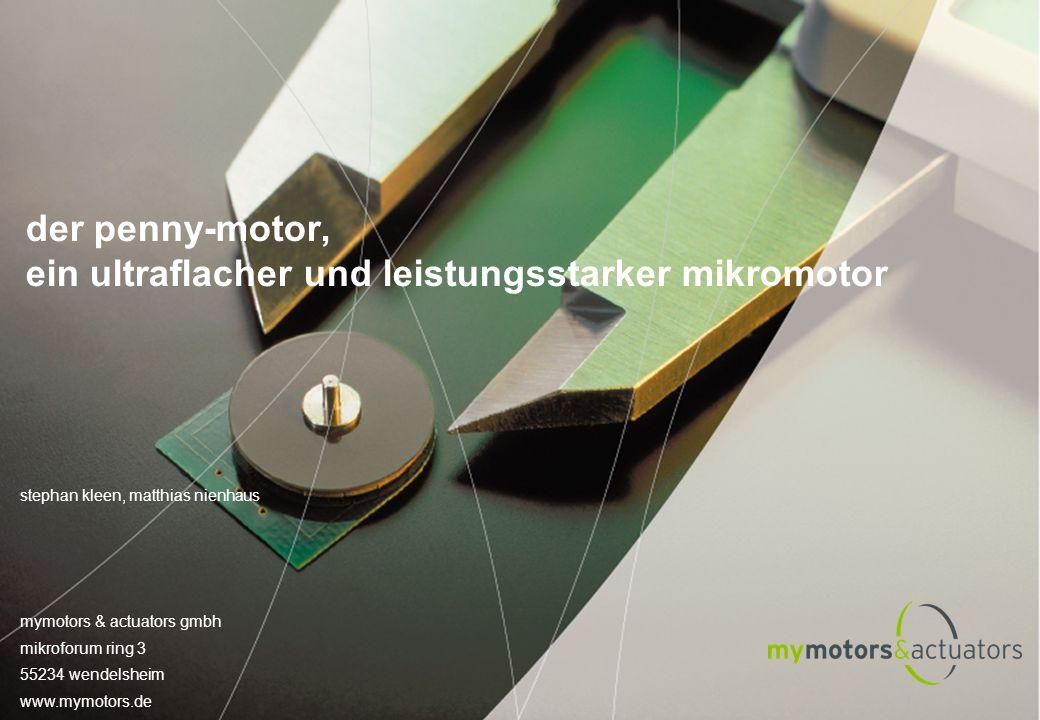 der penny-motor, ein ultraflacher und leistungsstarker mikromotor
