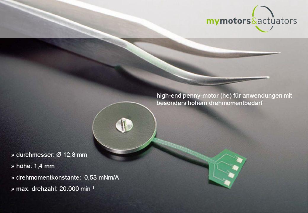 high-end penny-motor (he) für anwendungen mit besonders hohem drehmomentbedarf