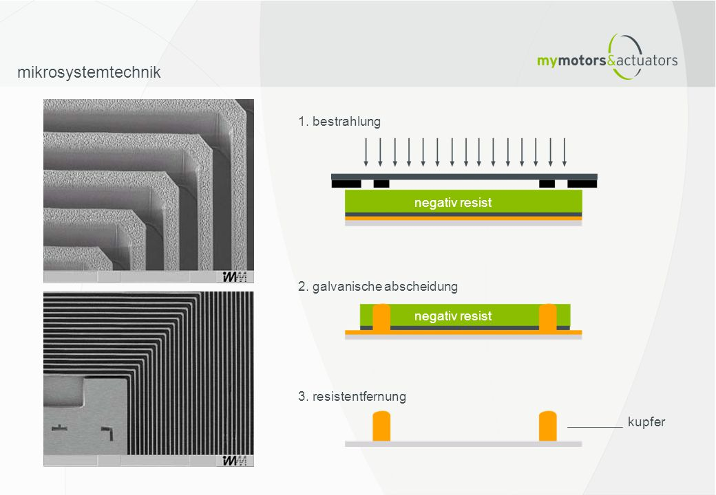 mikrosystemtechnik 1. bestrahlung negativ resist