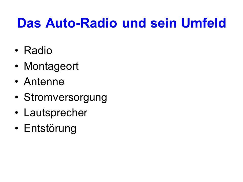 Das Auto-Radio und sein Umfeld