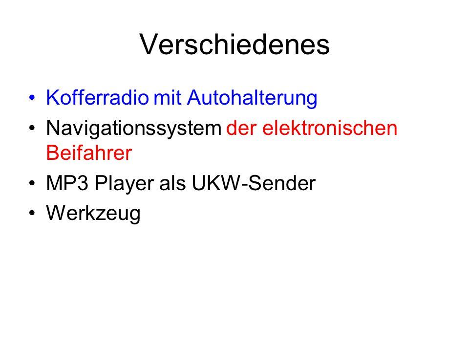 Verschiedenes Kofferradio mit Autohalterung
