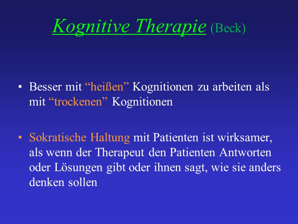 Kognitive Therapie (Beck)