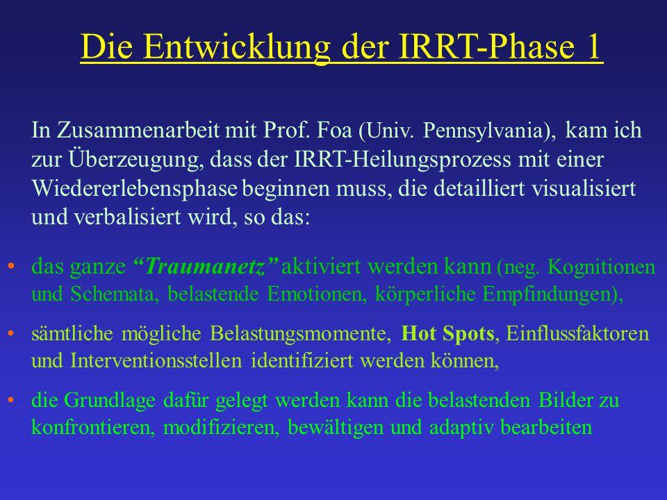 Die Entwicklung der IRRT-Phase 1