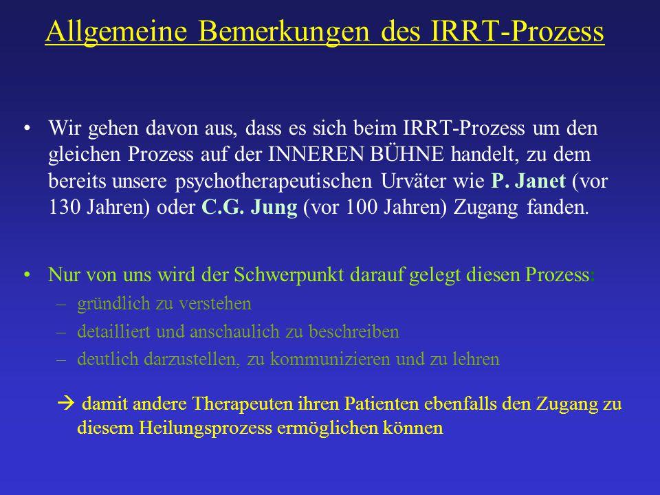Allgemeine Bemerkungen des IRRT-Prozess