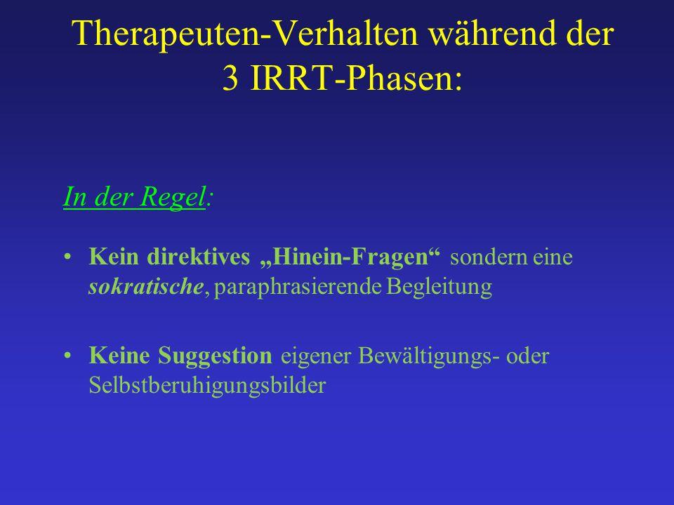 Therapeuten-Verhalten während der 3 IRRT-Phasen: