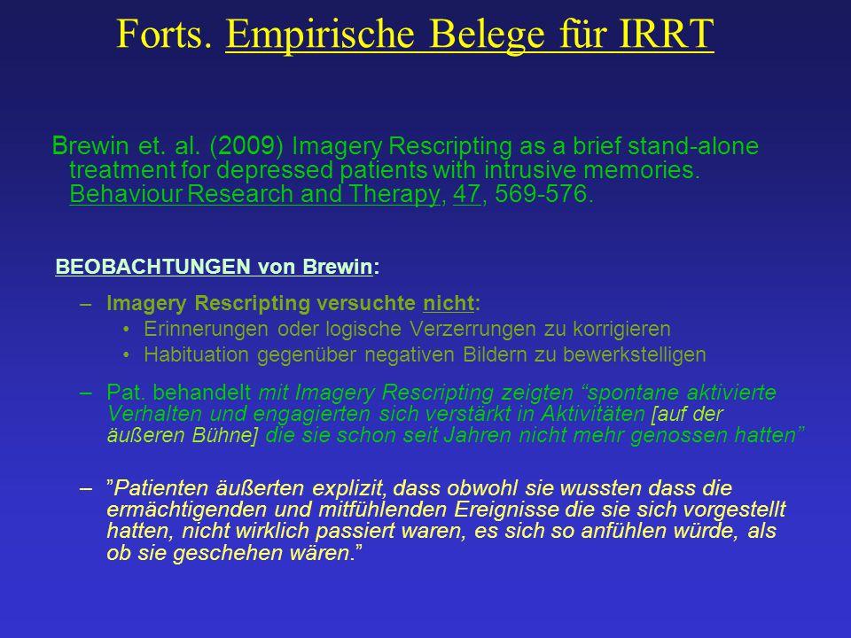 Forts. Empirische Belege für IRRT