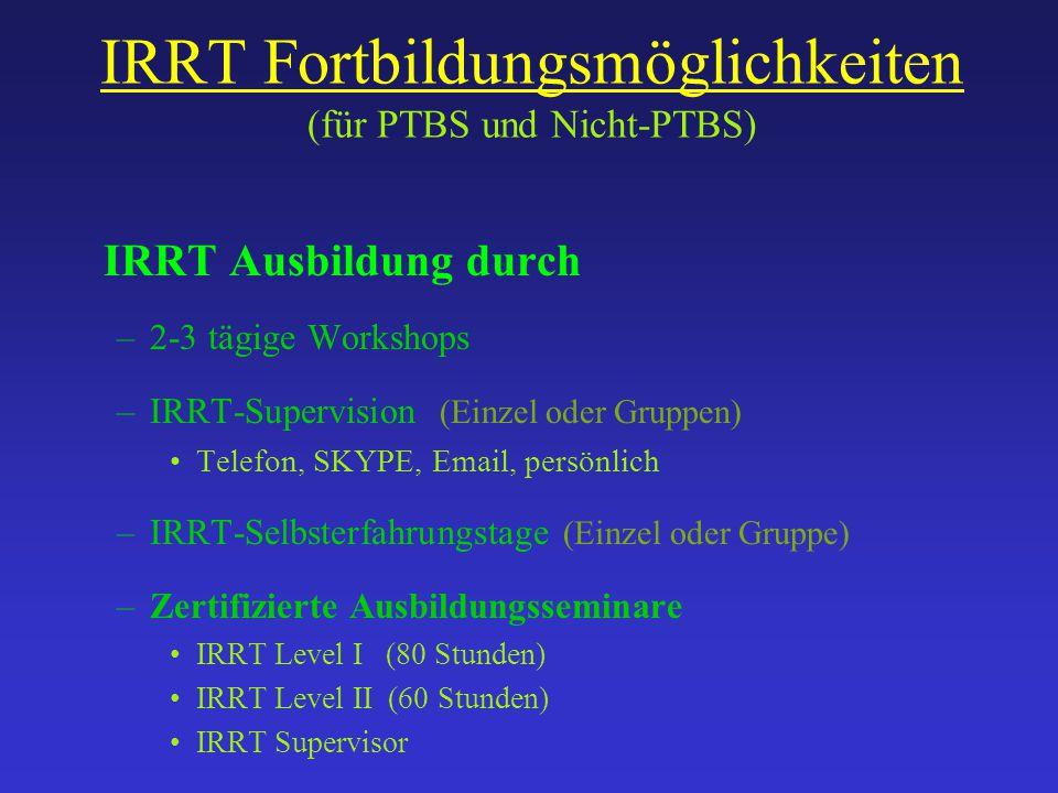 IRRT Fortbildungsmöglichkeiten (für PTBS und Nicht-PTBS)
