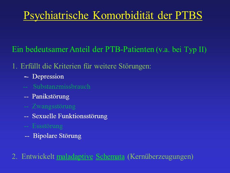 Psychiatrische Komorbidität der PTBS