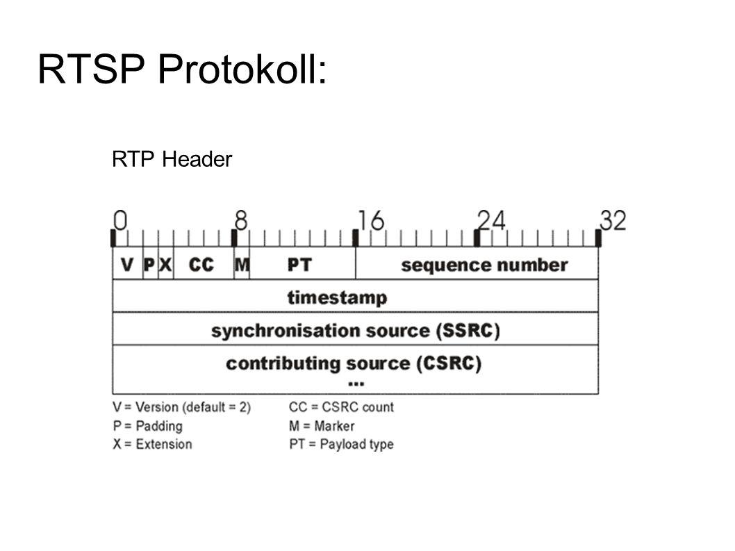 RTSP Protokoll: RTP Header
