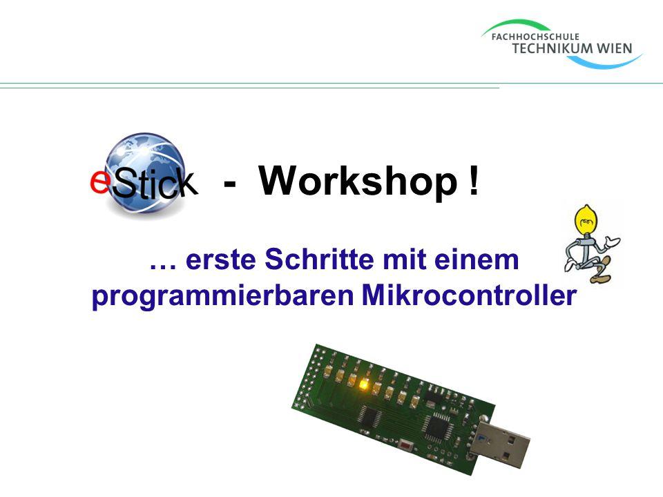 … erste Schritte mit einem programmierbaren Mikrocontroller
