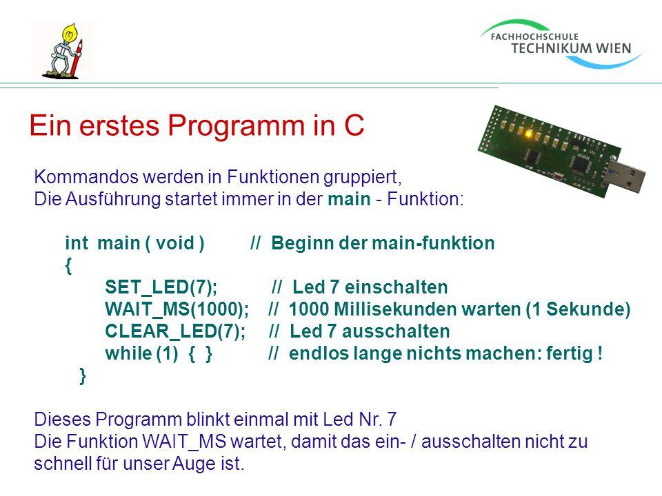 Ein erstes Programm in C
