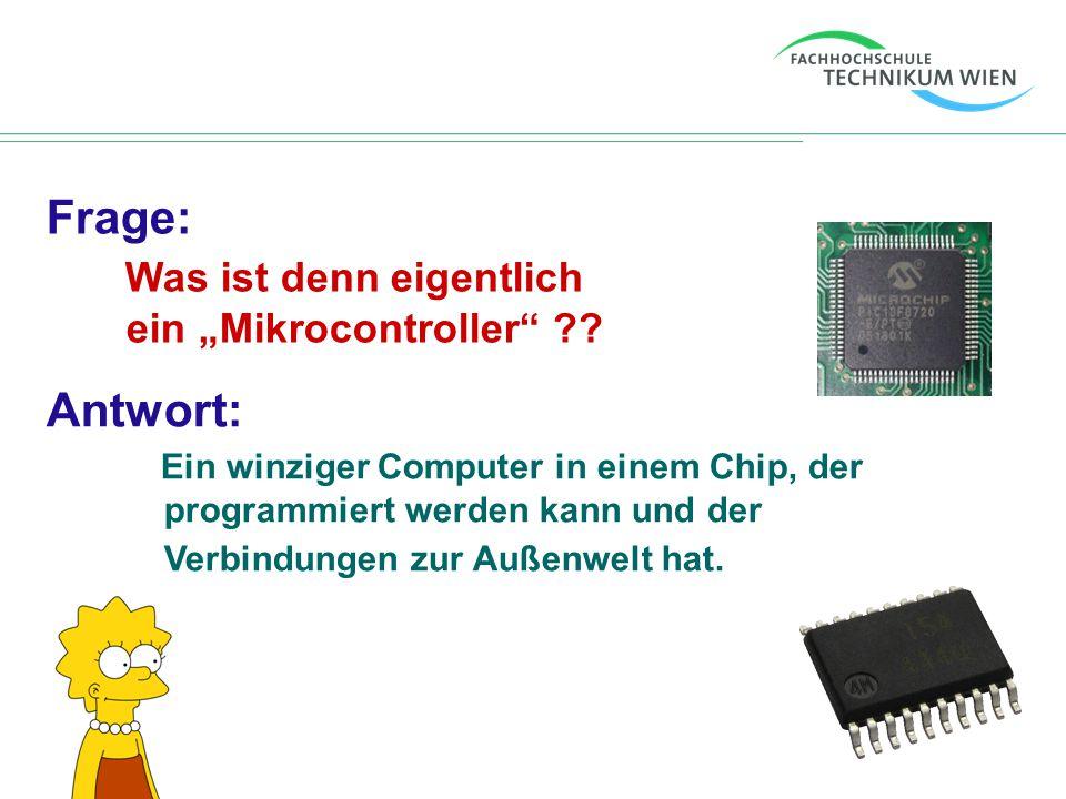 """Frage: Was ist denn eigentlich ein """"Mikrocontroller"""