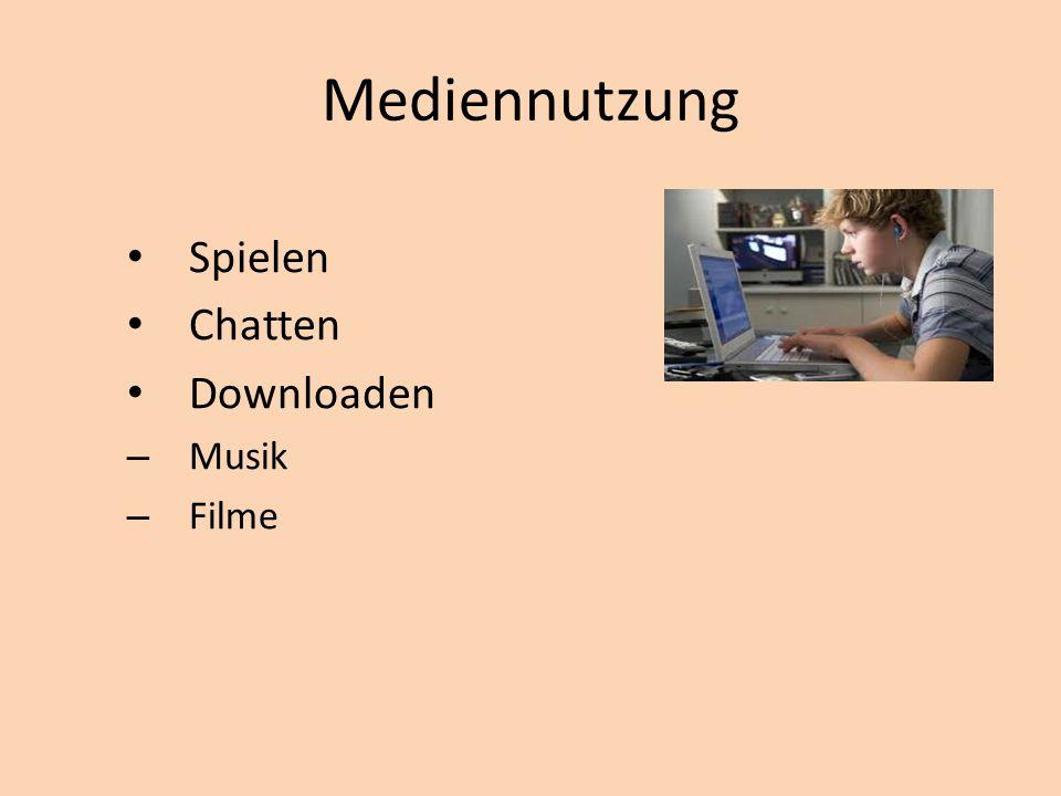 Mediennutzung Spielen Chatten Downloaden Musik Filme