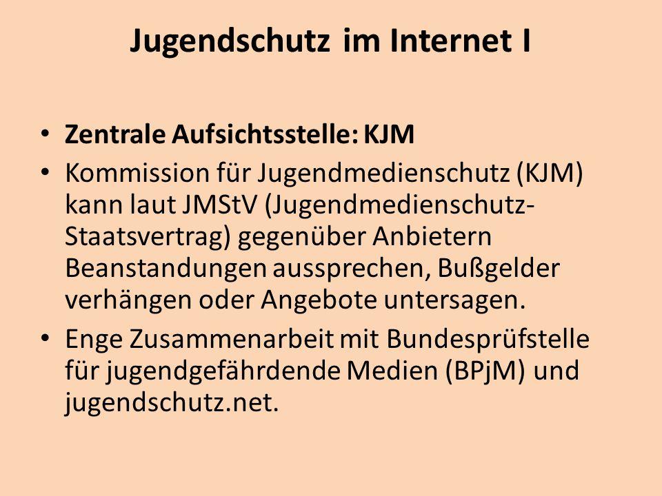 Jugendschutz im Internet I