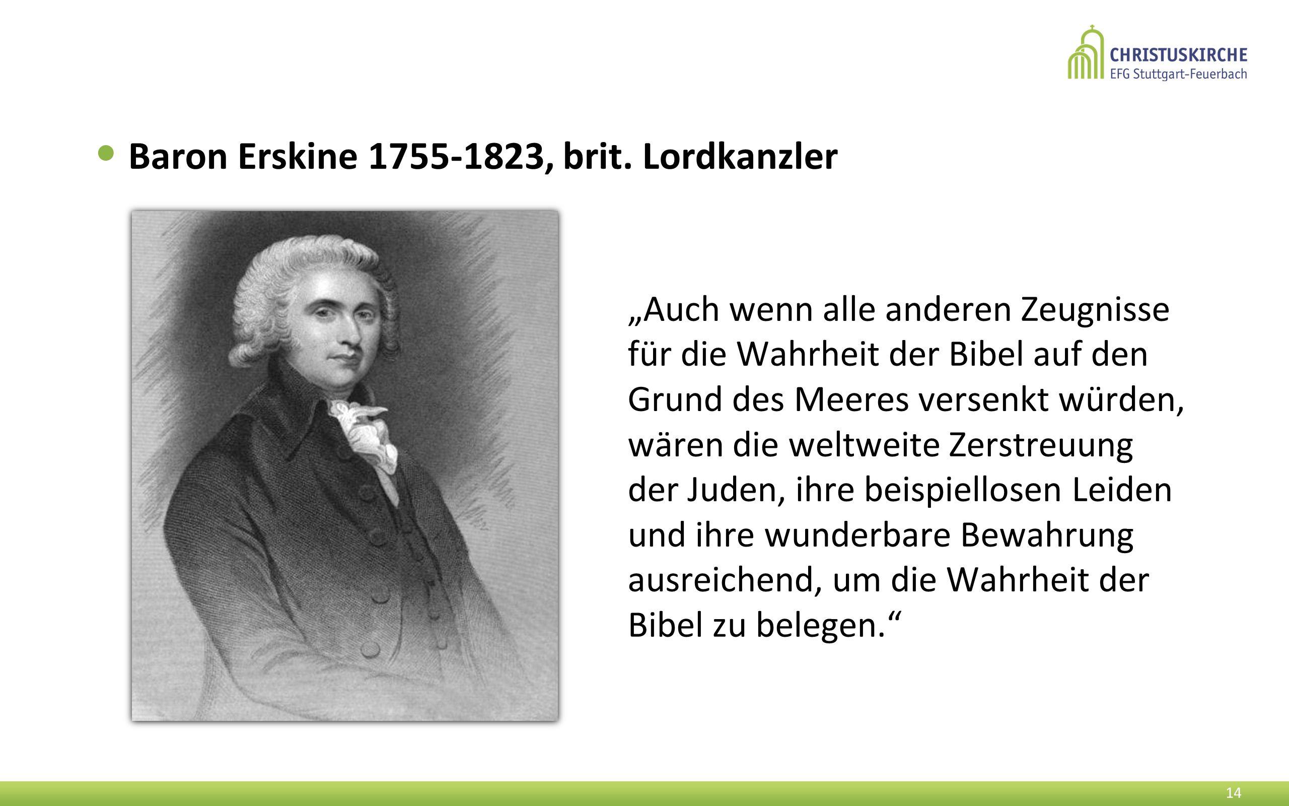 Baron Erskine 1755-1823, brit. Lordkanzler
