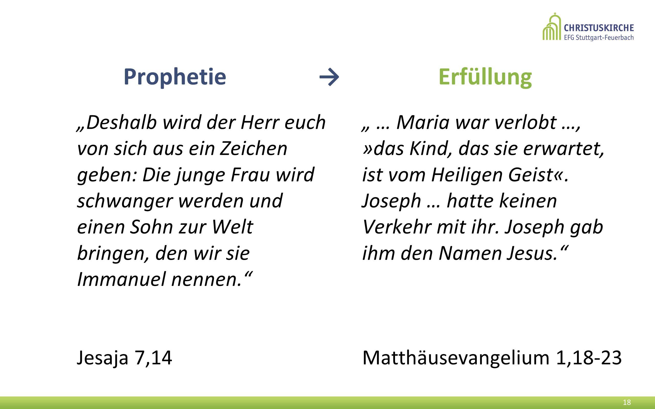 Prophetie → Erfüllung