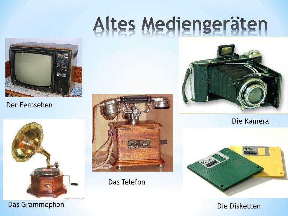 Altes Mediengeräten Der Fernsehen Die Kamera Das Telefon