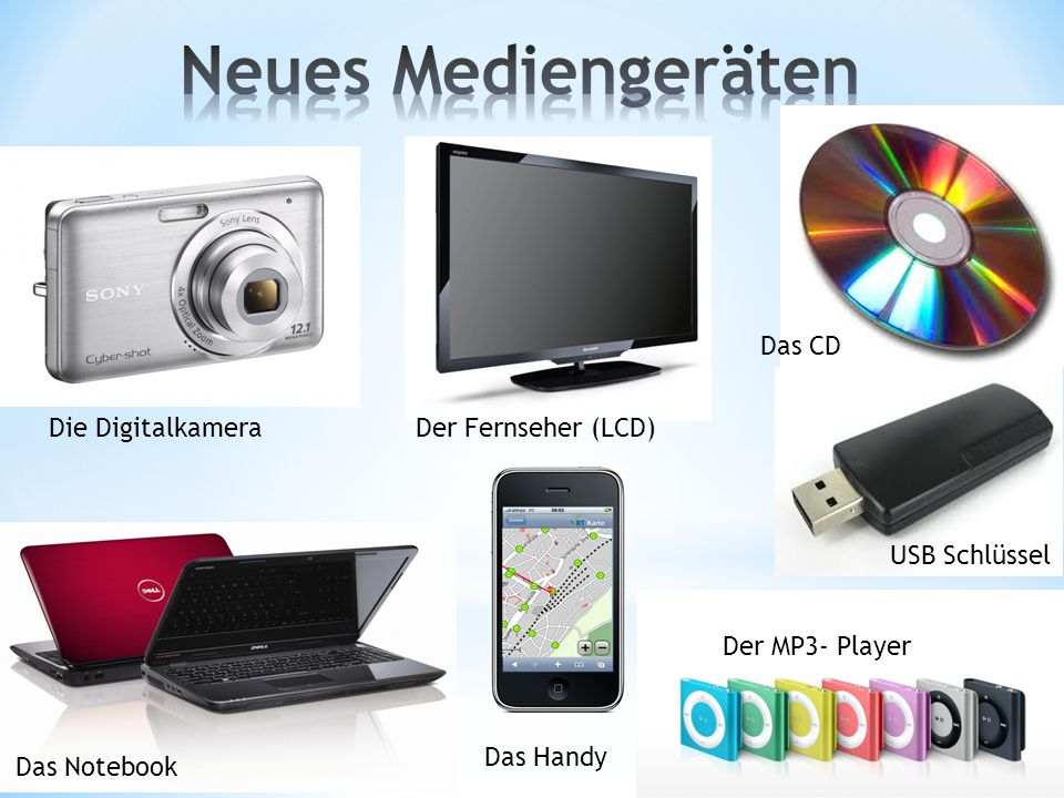 Neues Mediengeräten Das CD Die Digitalkamera Der Fernseher (LCD)