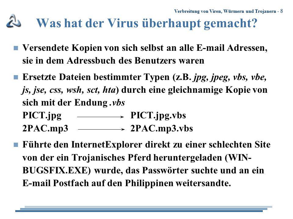 Was hat der Virus überhaupt gemacht