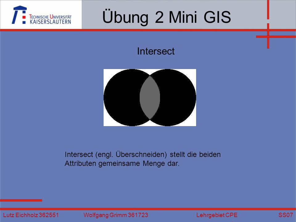 Übung 2 Mini GIS Intersect