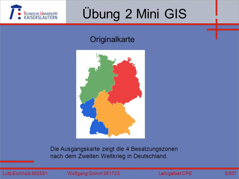 Übung 2 Mini GIS Originalkarte