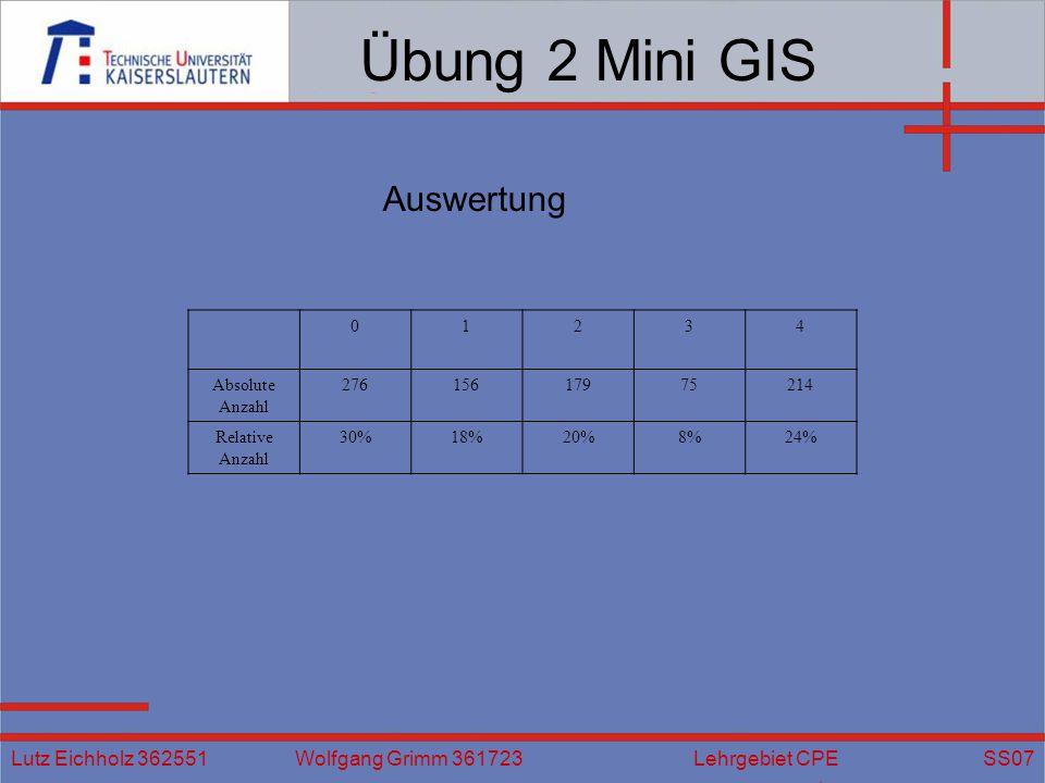 Übung 2 Mini GIS Auswertung