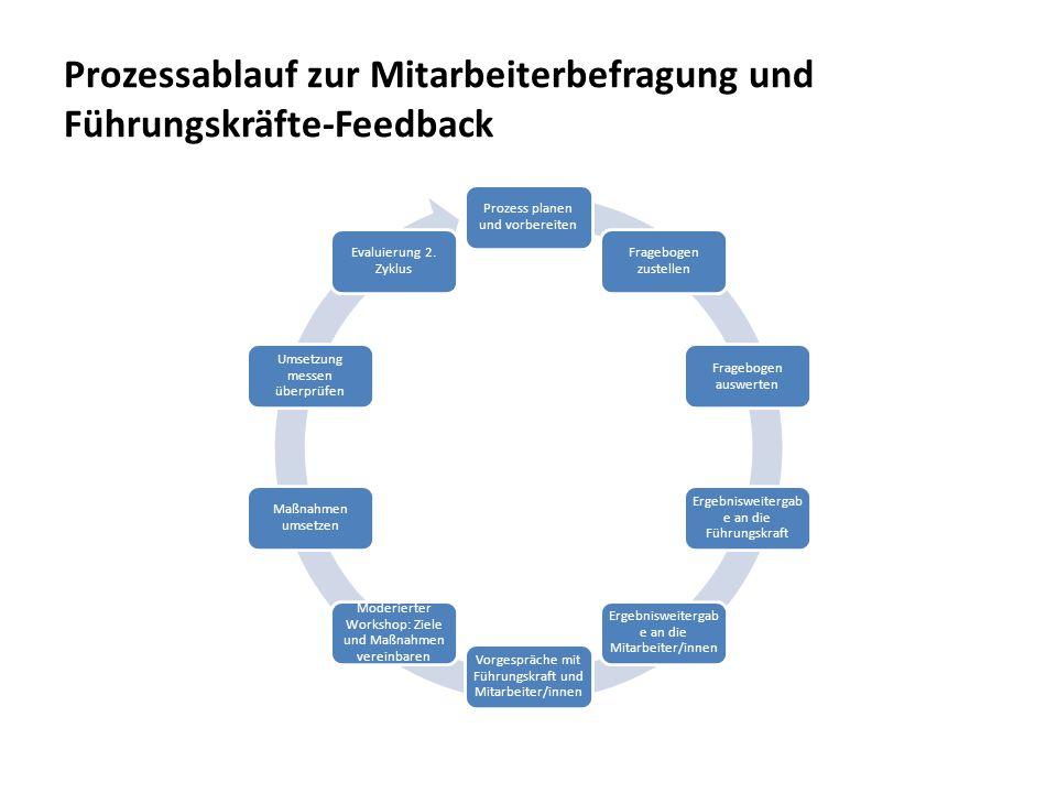 Prozessablauf zur Mitarbeiterbefragung und Führungskräfte-Feedback