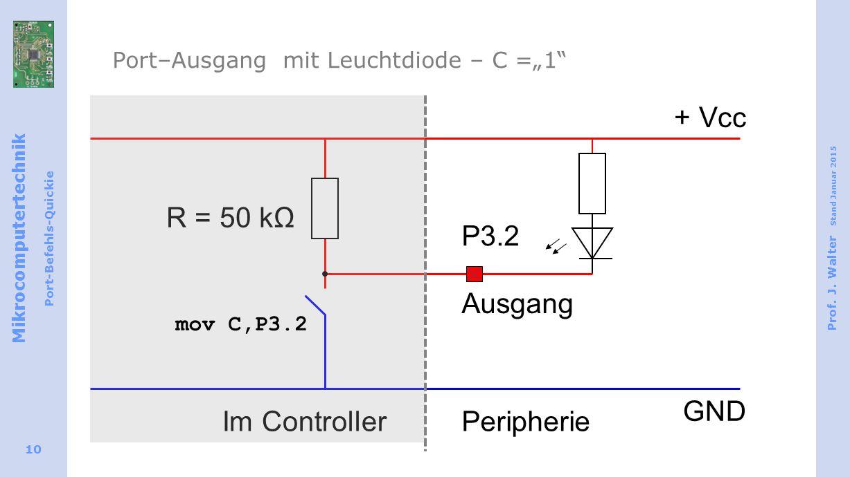 "Port–Ausgang mit Leuchtdiode – C =""1"
