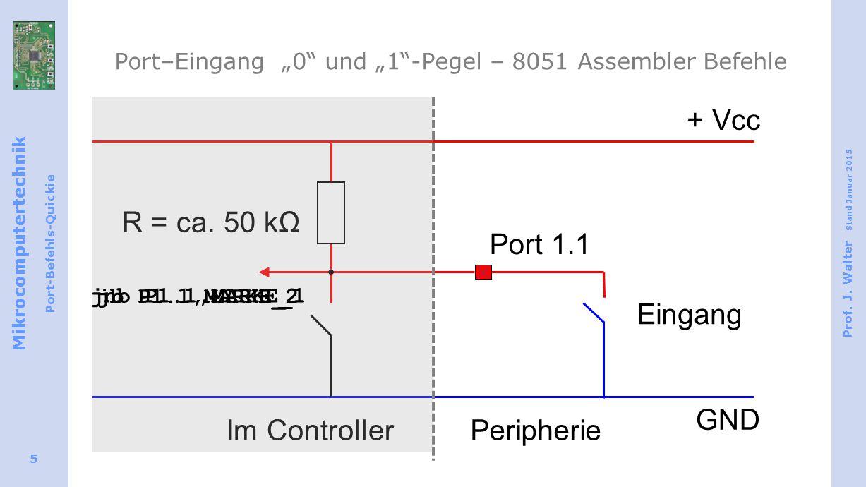 "Port–Eingang ""0 und ""1 -Pegel – 8051 Assembler Befehle"