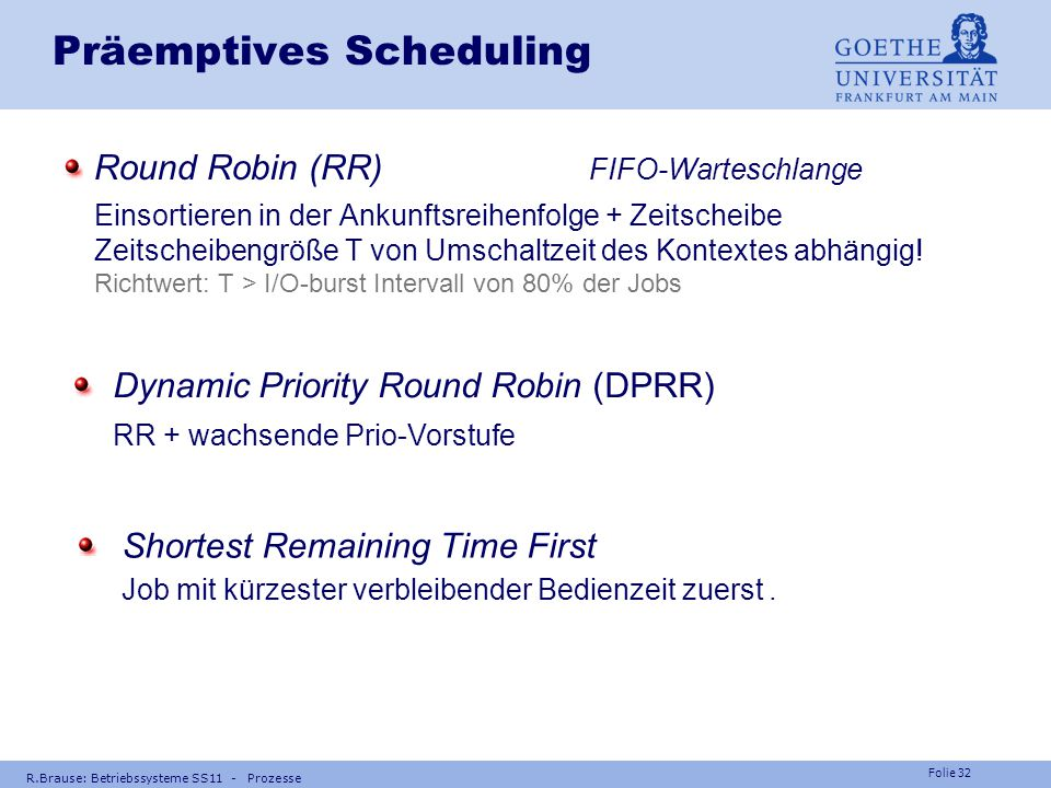 Präemptives Scheduling