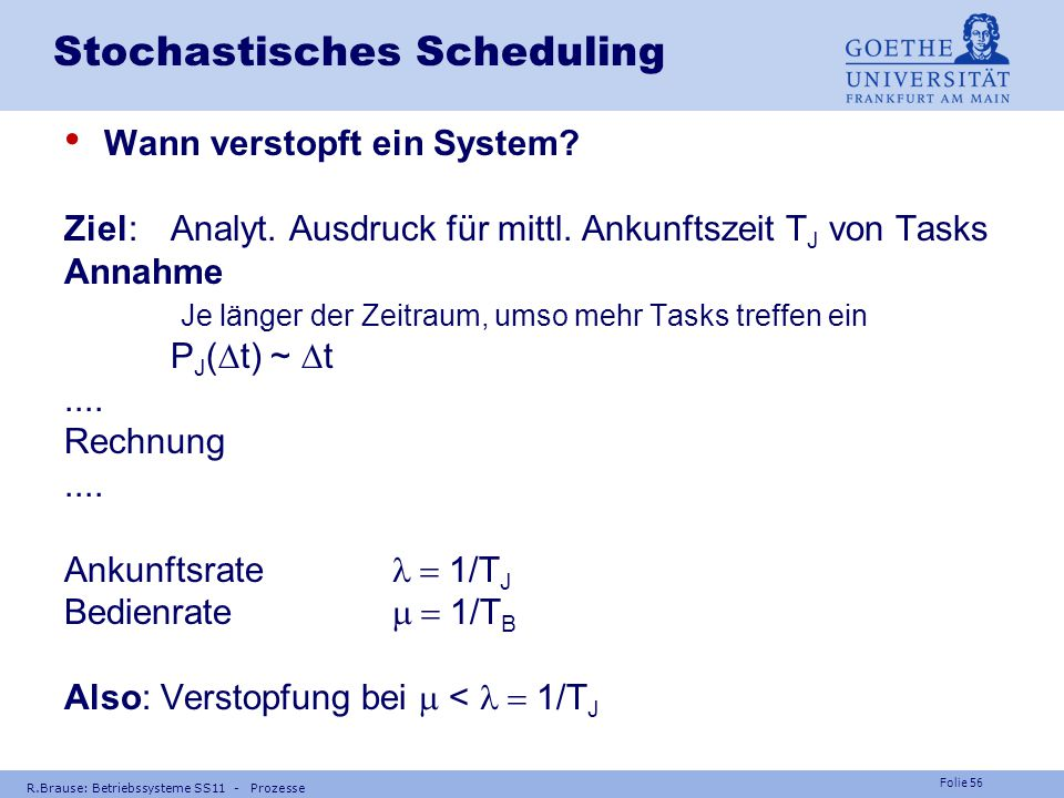 Stochastisches Scheduling
