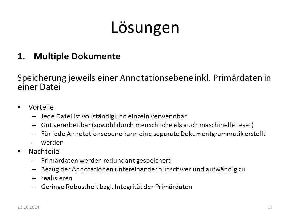 Lösungen Multiple Dokumente