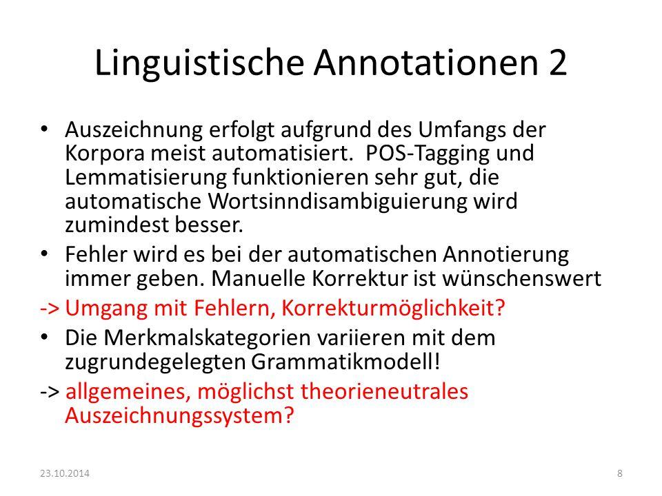 Linguistische Annotationen 2