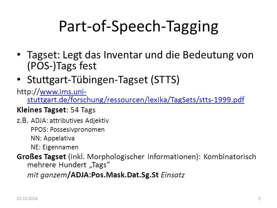 Part-of-Speech-Tagging