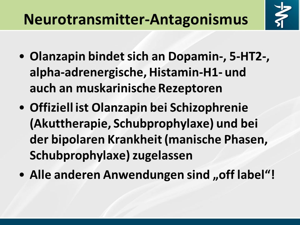 Neurotransmitter-Antagonismus