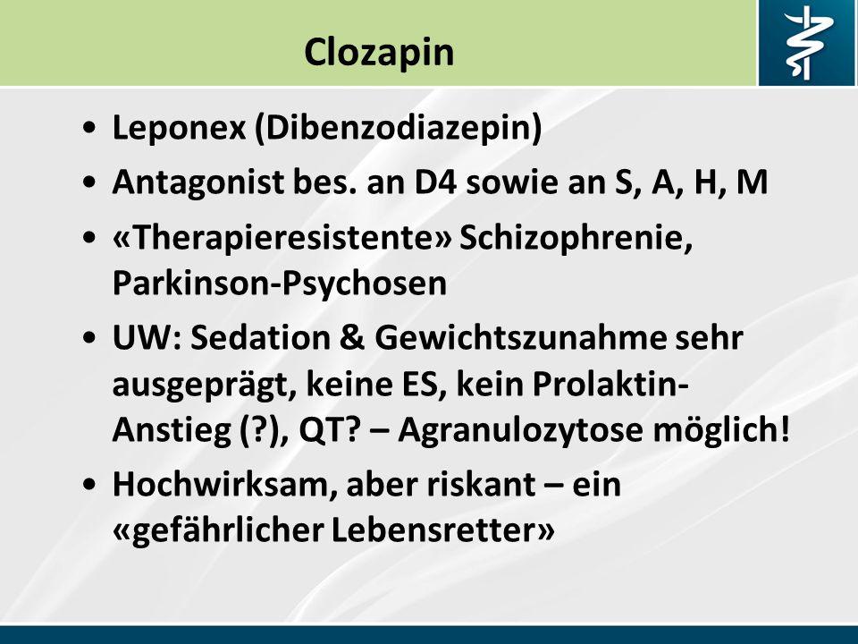 Clozapin Leponex (Dibenzodiazepin)