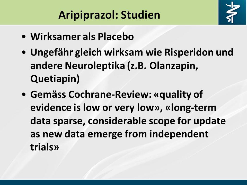 Aripiprazol: Studien Wirksamer als Placebo