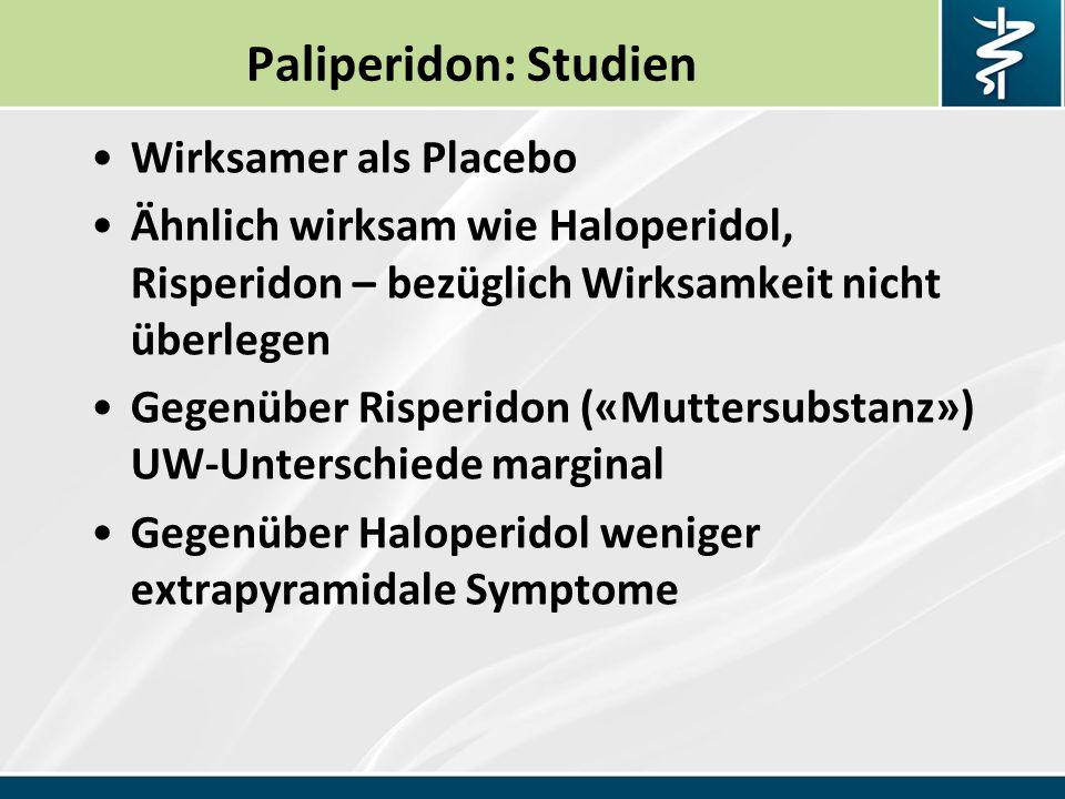 Paliperidon: Studien Wirksamer als Placebo