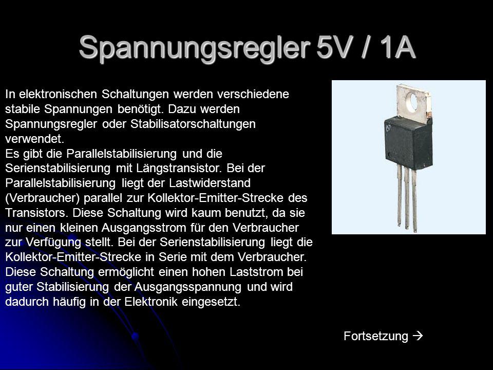 Spannungsregler 5V / 1A