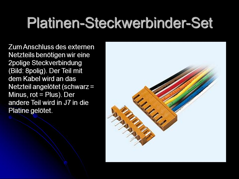Platinen-Steckwerbinder-Set