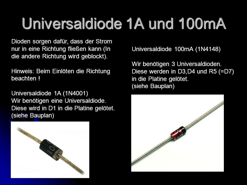 Universaldiode 1A und 100mA