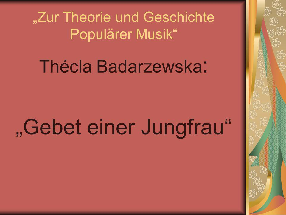 """""""Zur Theorie und Geschichte Populärer Musik"""