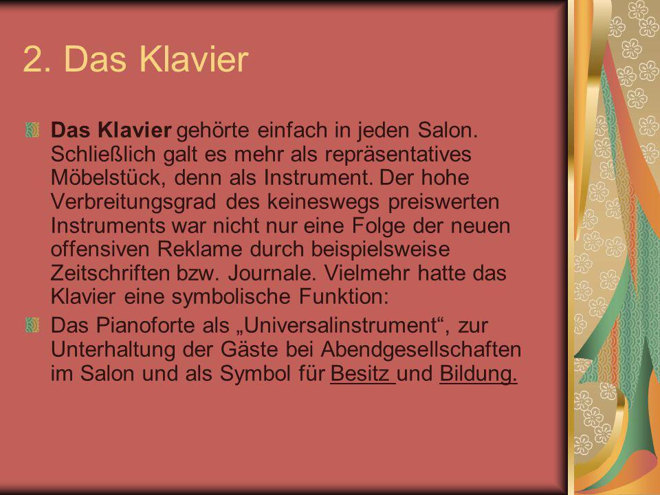 2. Das Klavier