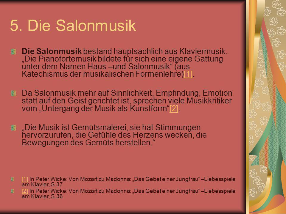 5. Die Salonmusik